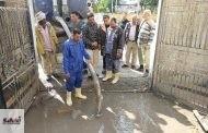 إستمرار أعمال كسح وشفط مياه الأمطار وإزالة آثارة من الشوارع بمختلف مراكز ومدن المحافظة