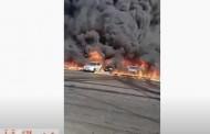 عاجل- انفجار هائل في خط بترول مصر اسماعيلية الصحراوي.. ووزير البترول يتوجه الي موقع الحادث| فيديو