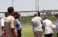 غلق وتشميع ملعب كرة قدم خماسى مخالف بقرية الصوينى بديرب نجم