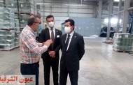 وزير الرياضة يتفقد مصنع النجيل الصناعى بعد تطويره ورفع كفاءته