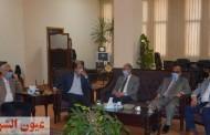 رئيس جامعة الزقازيق يستقبل لجنة المجلس الأعلى للجامعات