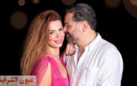 """الممثل """"أمير شاهين"""" وخطيبته يحتفلان بعيد ميلاد """"ريهام حجاج""""."""