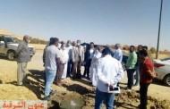 رئيس مدينة سيوه يتفقد موقع حفر البئر العميق بمنطقة الأمهات بتكلفة ٧ مليون جنيه