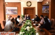 محافظ بورسعيد يتابع أعمال تطوير عدد من الطرق والمحاور