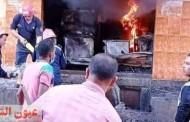 السيطرة على حريق بمخزن أجهزة كهربائية بمنيا القمح