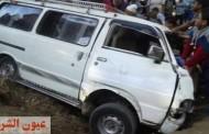 إصابة 8 سيدات وطفلتين في إنقلاب سيارة بالشرقية