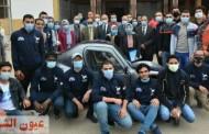 رئيس جامعة الزقازيق يلتقي بفريق كلية الهندسة المشارك برالي السيارات الكهربائية محلية الصنع - مصر 2020 بدورته الثالثة