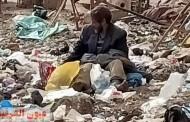 مشرد يعيش ويأكل من القمامة بفاقوس..والأهالي يطالبون بنقله لدار إيواء أو مصحة نفسية لعلاجه