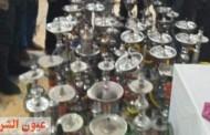 مصادرة ٥٧ شيشة من مقاهي مخالفة للإجراءات الإحترازية والوقائية لمكافحة إنتشار فيروس كورونا بديرب نجم