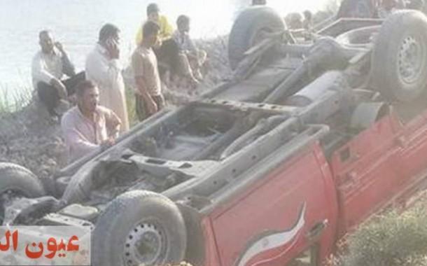 مصرع وإصابة 7 عمال فى إنقلاب سيارة بالشرقية