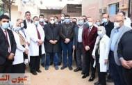 محافظ الشرقية ووكيل وزارة الصحة وأعضاء برلمان الشباب يتفقدون مستشفى فاقوس العام