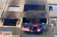 ماس كهربائي وراء تفحم أسرة كاملة في حريق شقه بالمرج