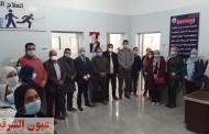 وكيل وزارة الصحة بالشرقية يتفقد أعمال التطوير بمستشفي كفر صقر..ويفتتح وحدة العلاج الطبيعي بالمركز الطبي