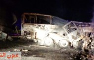 مصرع وإصابة 18 شخص في حادث تصادم أتوبيس وسيارة بأسيوط