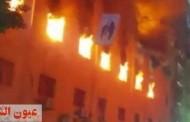 قوات الحماية المدنية تتمكن من السيطرة على حريق هائل نشب في كنيسة مارمينا بالعمرانية
