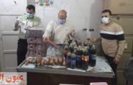 غلق وتشمع 14 منشآه غذائية تعمل بدون ترخيص وإعدام ٢ طن و ٤٦٥ كجم أغذية فاسدة بالشرقية