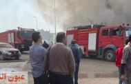 حريق هائل يلتهم مصنع «تنر» بالشرقية