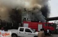 مصرع وإصابة ٨ عمال بحريق هائل في مصنع ببلبيس