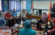 محافظ بورسعيد يلتقي مديري إدارات حي العرب