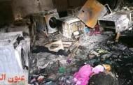 حريق يلتهم محتويات شقة عروسين قبل زفافهما بقرية السلامون بههيا