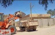 رفع 120 طن مخلفات قمامة و صيانة أعمدة الإنارة وإزالة فورية لتعديات بالجيزة