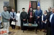 محافظ السويس يستقبل مطران مدن القناة وشرق الدلتا للكنيسة الكاثوليكية