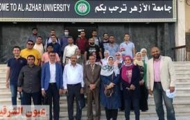 إقبال كبير على قافلة جامعة الأزهر الطبية بقرية