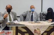 وكيل وزارة الصحة بالشرقية ووكيل المديرية يناقشان مع مديري الإدارات الصحية الخطة اليومية لتطعيم المواطنين بلقاح كورونا