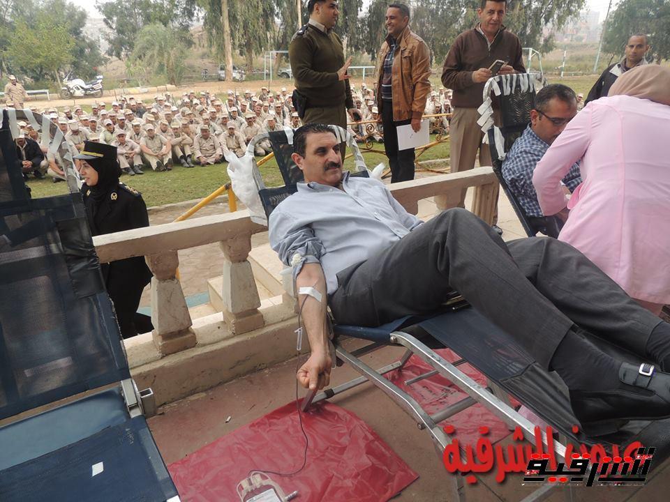 أمن الشرقية ينظم حملة للتبرع بالدم بمنطقة تل بسطة بالزقازيق