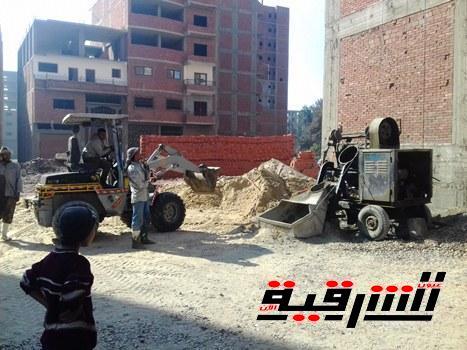 محافظ الشرقية يوقف أعمال بناء مخالفة بمنطقة الغشام بمدينة الزقازيق
