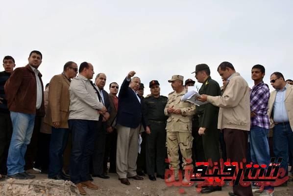 محافظ الشرقية يتفقد الموقع المقترح لإنشاء مستشفى عسكري بمدينة الزقازيق
