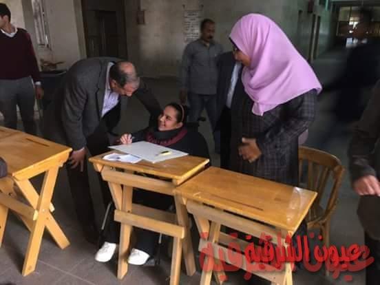 نائب رئيس جامعة الزقازيق يتابع سير الإمتحانات