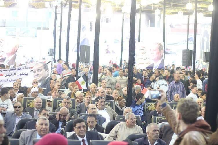 بالصور .. مؤتمراً جماهيرياً حاشداً لدعم الرئيس السيسي بديرب نجم