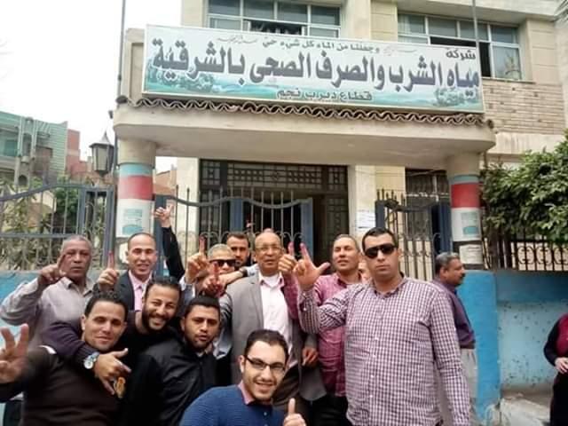 شركة مياه الشرب والصرف الصحى بالشرقية توفر سيارات لنقل العاملين وأسرهم للجان الإستفتاء