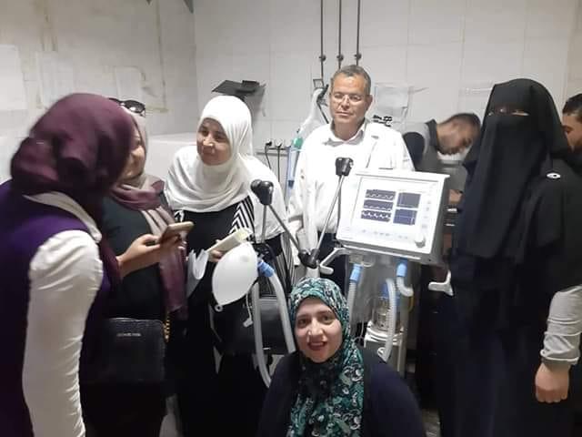 تبرع سيدات مدينة ابوحماد بجهاز تنفس صناعي أمريكي لمستشفى أبوحماد المركزي