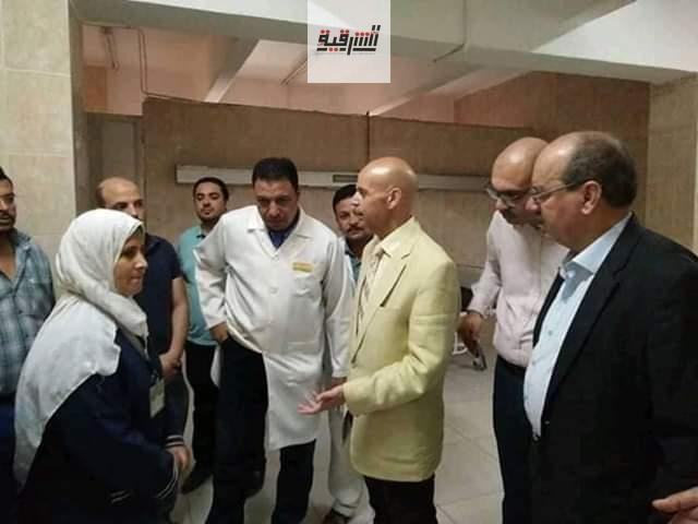 وكيل وزارة الصحة يتابع الأعمال الجارية بمستشفي القنايات المركزي
