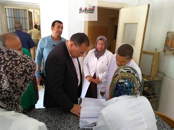 ممدوح غراب يفاجئ مستشفى الصدر والتدرن بمركز أبو حماد