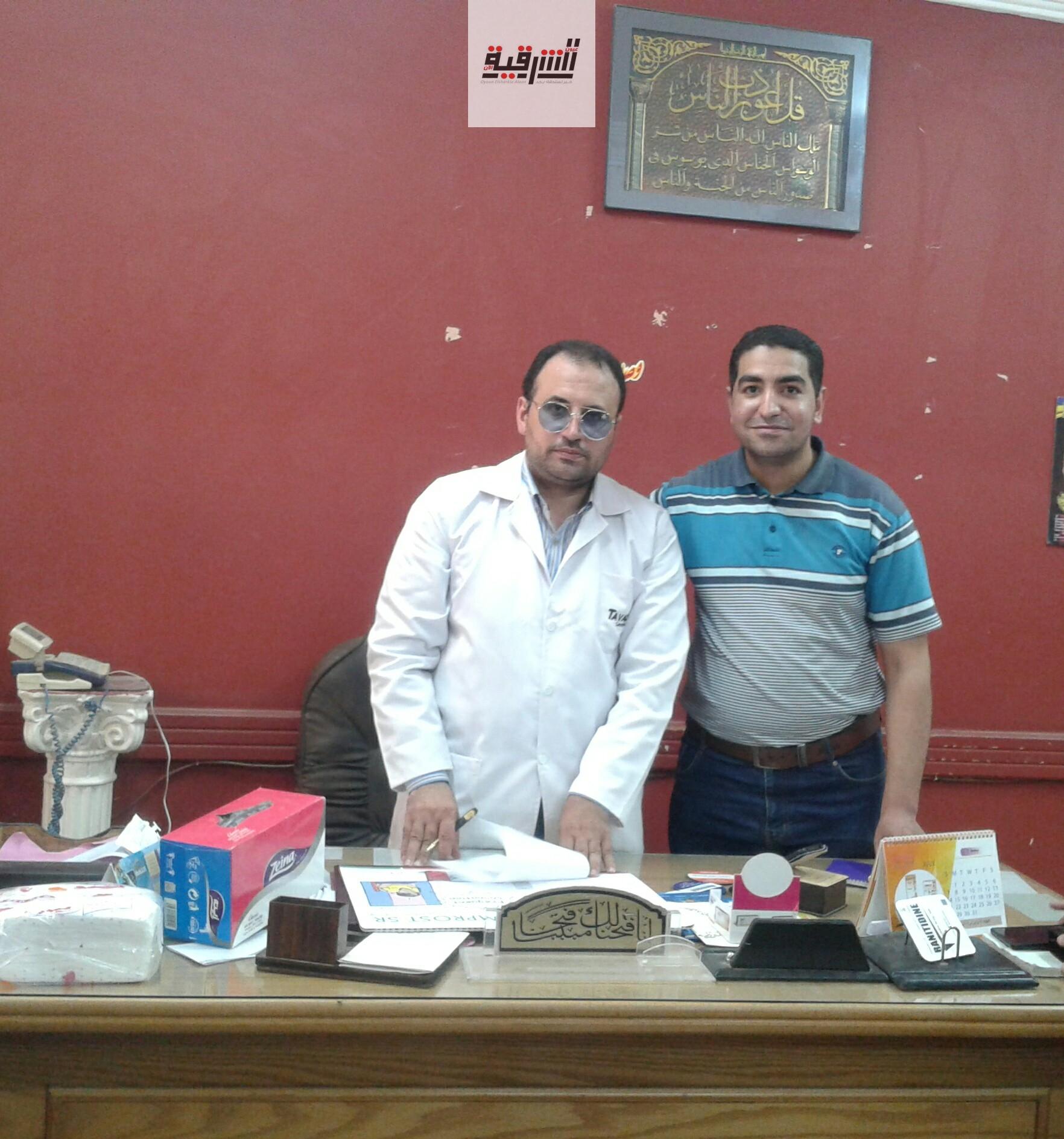 مدير مستشفى أبوحماد : سيتم فتح عيادة للكشف بسعر رمزى من ٢ظ- ٨ م لجميع التخصصات يوميا بالمستشفى