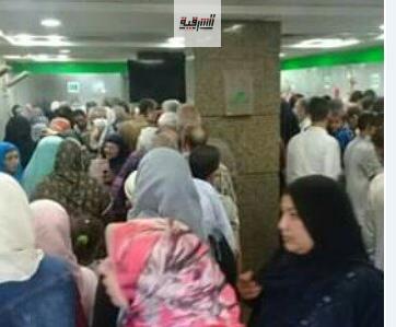 مكاتب البريد ببلبيس تهدد أرواح المواطنين بسبب الإزدحام الشديد وإهمال المسؤولين