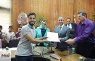 رئيس جامعة الزقازيق يكرم المتميزين من أطفال تل روزن