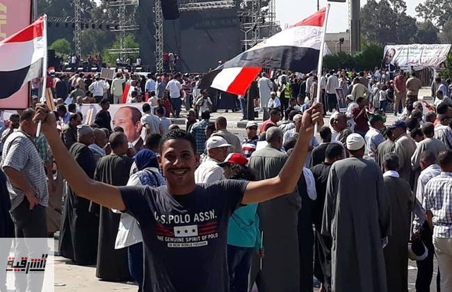 بالصور..أهالي الشرقية يشاركون في إحتفالية المنصة لدعم وتأييد الرئيس السيسي ومؤسسات الدولة