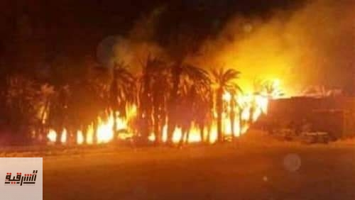 الحماية المدنية تسيطر على حريق نشب بمزرعة في منياالقمح