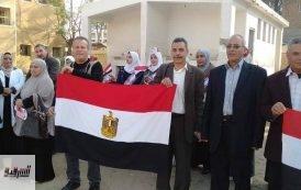 مدرسة الحسينية التجارية للبنات تشارك فى مبادرة معا فى حب مصر