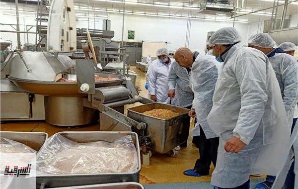 حملة مكبرة علي مصانع تعبئة المواد الغذائية والمجازر ببلبيس والعاشر
