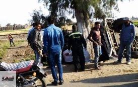 مصرع مواطن وإصابة 7 آخرين في حادثين بالشرقية
