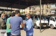 ضبط ٤ سيارات بمدينتي بلبيس وصان الحجر لعدم إلتزام السائقين بقرار إرتداء الكمامة الواقية