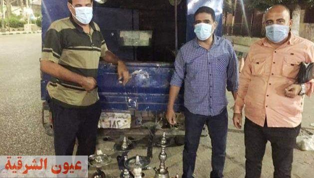 ضبط مقهى مخالف لتقديمه الشيشة للمترددين بطريق بردين بالزقازيق