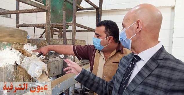 ضبط وإعدام 5 طن طحينة فاسدة وغلق مصنع يعمل بالمخالفة بالعاشر من رمضان