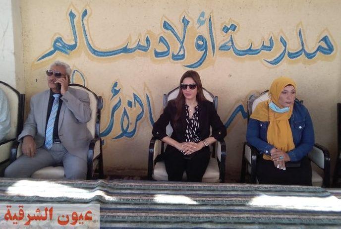 مدرسة أولاد سالم تكرم الطلبة المتميزين بحضور يسرا أباظة عضو مجلس الشيوخ