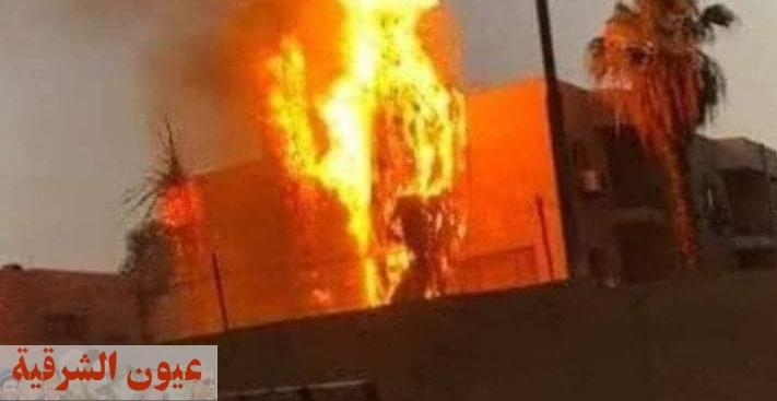 حريق داخل مستشفي ههيا المركزي دون وقوع أي إصابات